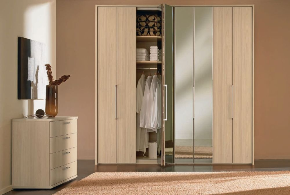 Nolte Horizont 7000 Panorama Folding Door Wardrobes with Wooden Front