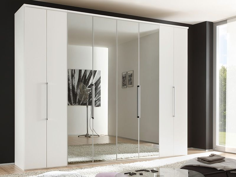 Nolte Horizont 7000 Polar White 8 Door Folding Wardrobe - W 240cm x H 225cm