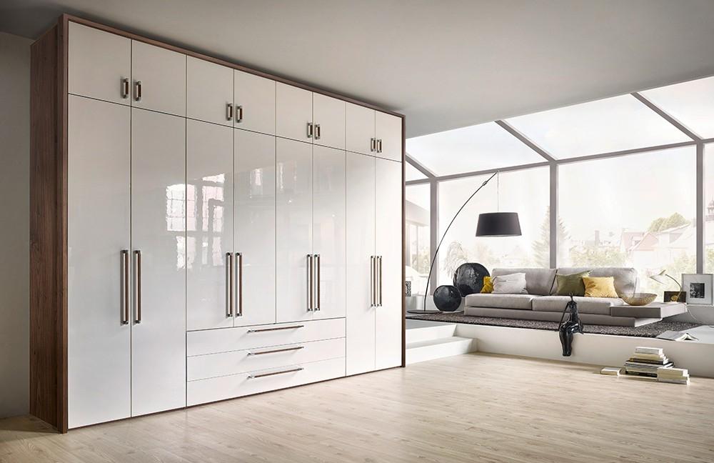 buy nolte horizont 8000 double door hinged wardrobe with high gloss front online cfs uk. Black Bedroom Furniture Sets. Home Design Ideas