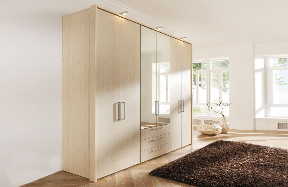 Nolte Horizont 8000 Single and Double Door Hinged Wardrobe with Wooden Front