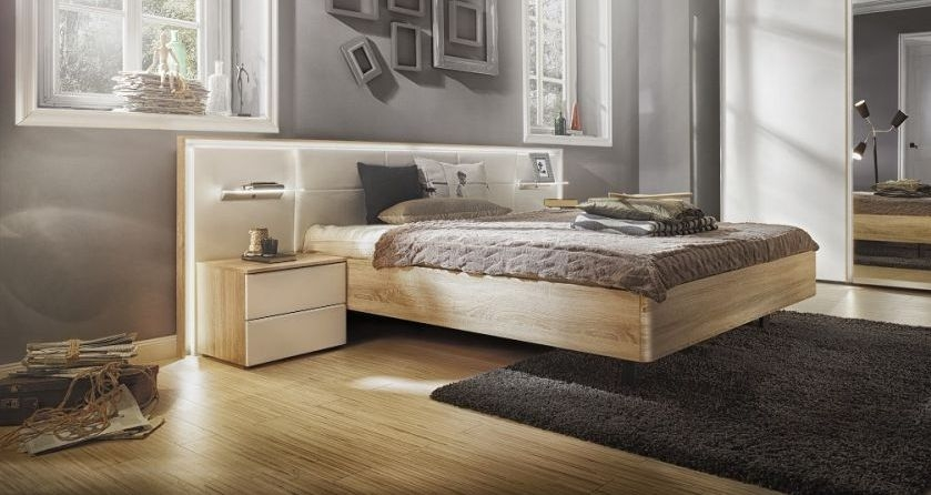 Nolte Ipanema Wood Bed Frame with 50cm Wide Integrated Bedside