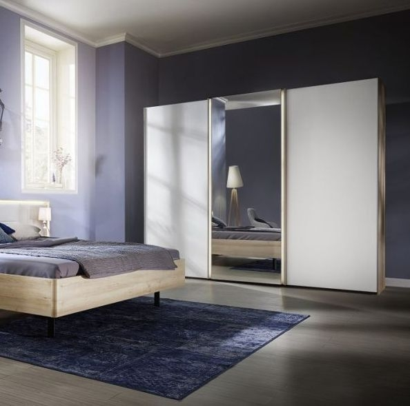 Nolte Ipanema Glass and Mirror Sliding Wardrobe