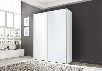 Nolte Marcato2.1 - Version 1 Sliding Wardrobe without Lattice Bar with Partial Glass