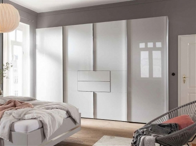 Nolte Marcato2.1 - Version 1 Sliding Panorama Wardrobe with 2 Drawer without Lattice Bar