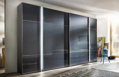 Nolte Marcato Style 1c Glass Doors Sliding Wardrobe