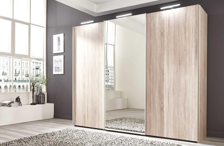 Nolte Marcato2.1 - Version 1 Sliding Wardrobe without Lattice Bar with Partial Mirror