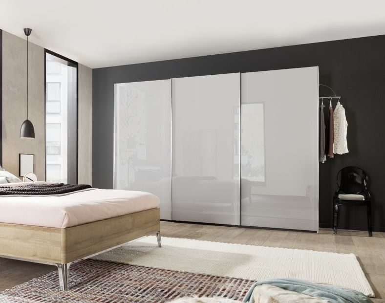 Nolte Marcato Version 1A Sliding Wardrobe with Wooden Front