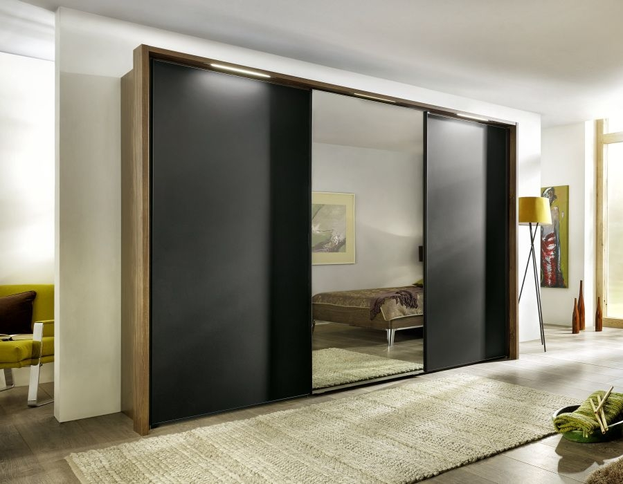 Nolte Marcato Version 1B Sliding Wardrobe with Wooden and Glass Front