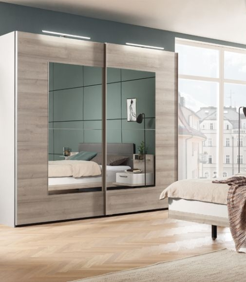 Nolte Novara Sliding Door Wardrobe with Crystal Mirror Front