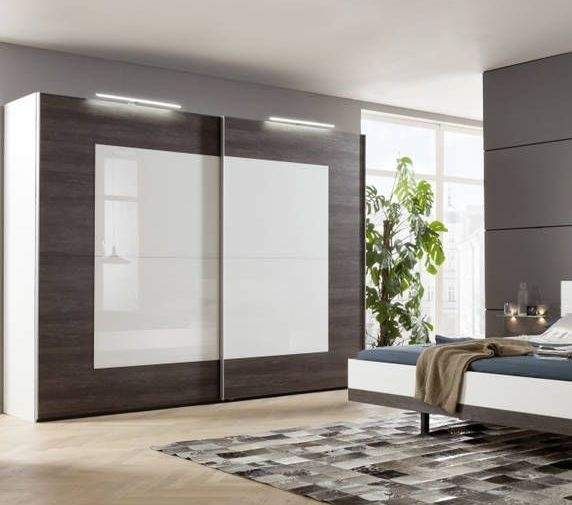 Nolte Novara Sliding Door Wardrobe with Glass Front