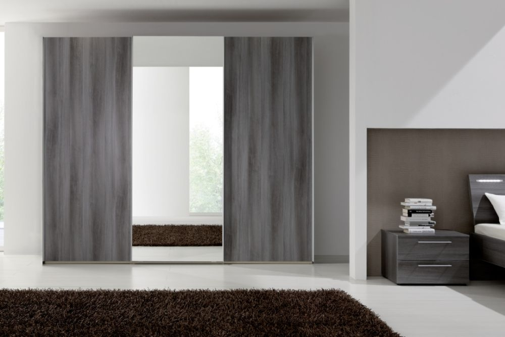 Nolte Samia Sliding Door Wardrobe with Wooden Front