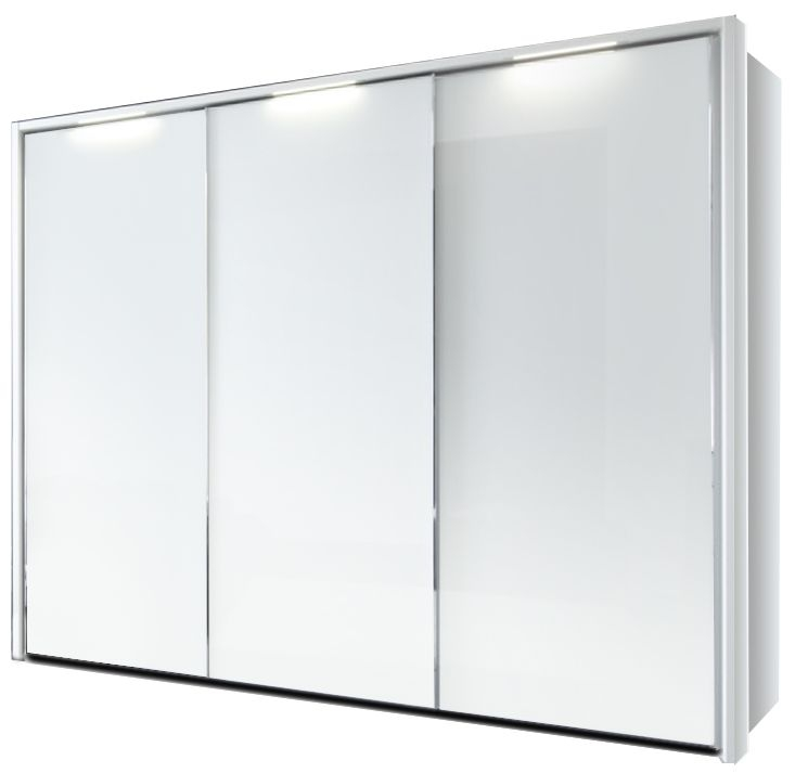 Nolte Velia 1 Version 1 Polar White 2 Door Sliding Wardrobe with Pelmets and Passe Partout - W 160cm