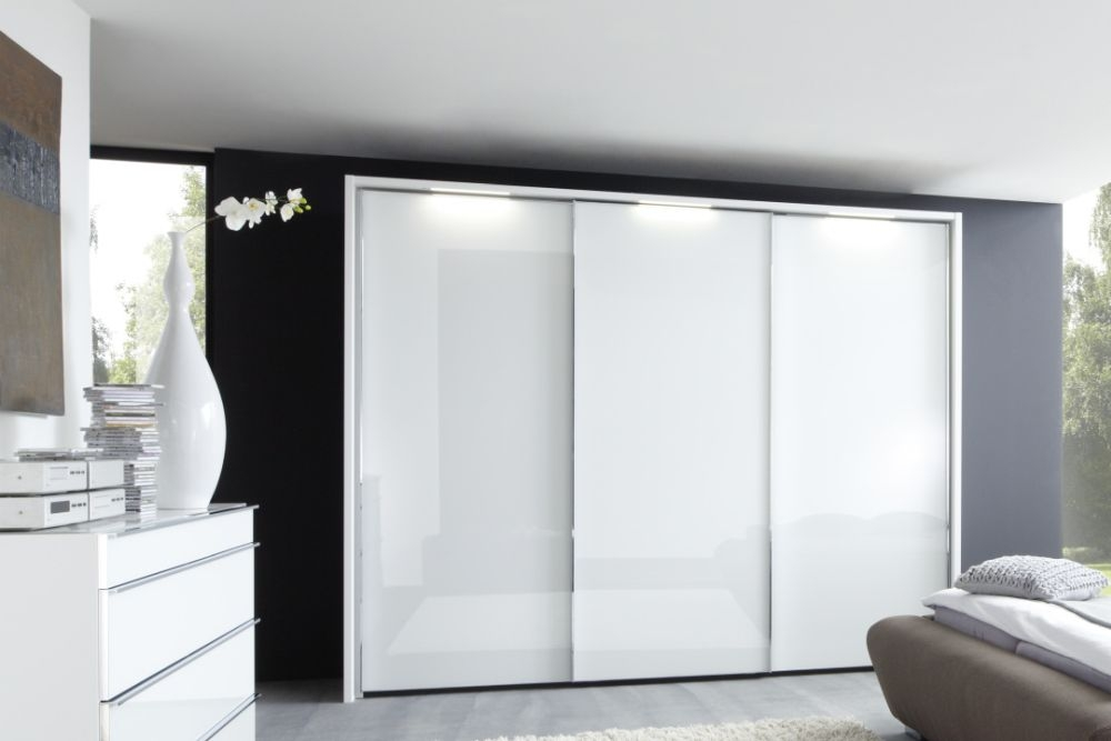 Nolte Velia 1 Version - 3A Sliding Wardrobe with Frosted White Glass Front