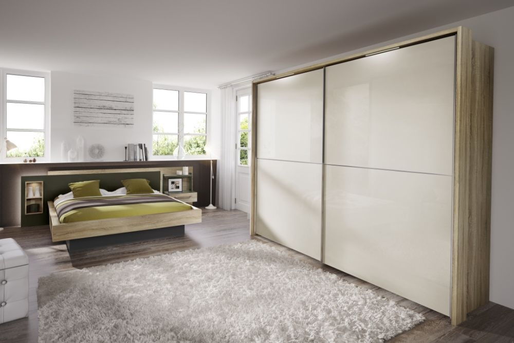 Nolte Velia 2 Version - 2 Sliding Wardrobe with Wooden and Glass Front