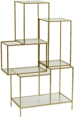 NORDAL Gold and Glass Large Bookcase