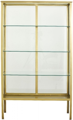 NORDAL Makalu Gold and Glass Bookcase