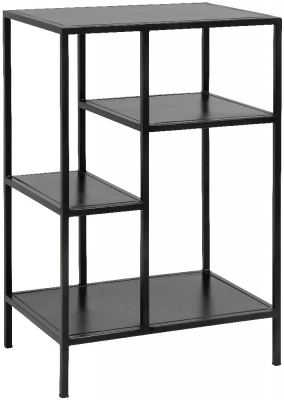 NORDAL Space Black Small Bookcase