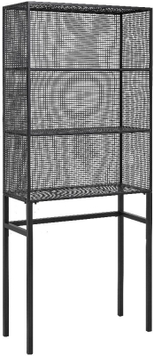 NORDAL Wire Black Tall Bookcase