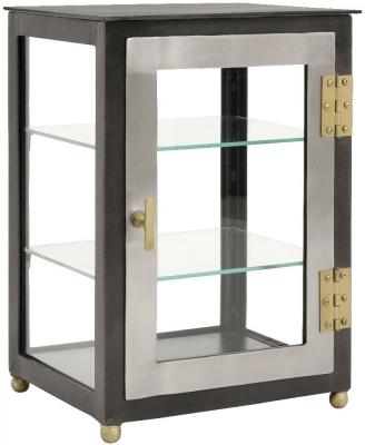 NORDAL Black 1 Door Glass Display Cabinet