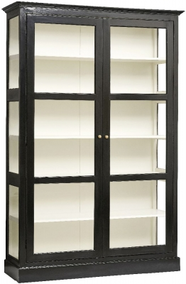 NORDAL Classic Black and Glass 2 Door Display Cabinet