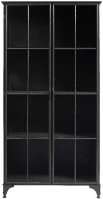 NORDAL Downtown Black 2 Door Display Cabinet