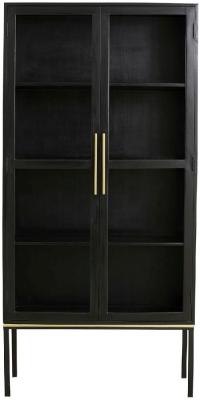 NORDAL Koshi Black 2 Door Display Cabinet
