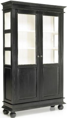 NORDAL Nova Mango Wood 2 Door Display Cabinet
