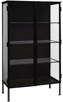 NORDAL Oregon Black 2 Door Display Cabinet