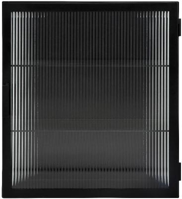 NORDAL Groovy Black 1 Door Wall Display Cabinet