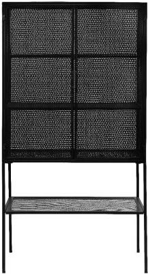 NORDAL Wire Black 2 Door Hall Cabinet