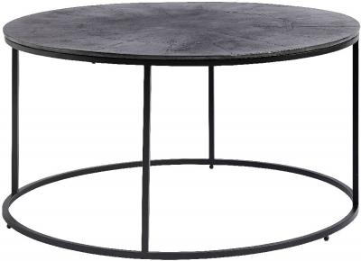 NORDAL Black Round Coffee Table