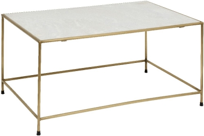 NORDAL Timeless White Marble Coffee Table