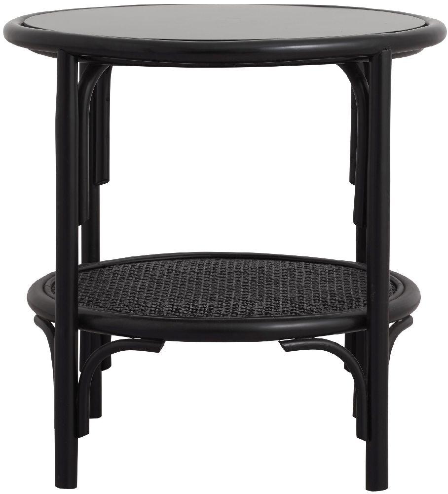 NORDAL Kasai Black Rattan Coffee Table
