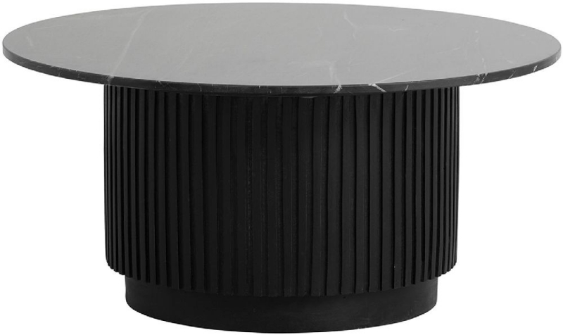 NORDAL Erie Black Marble Large Round Coffee Table