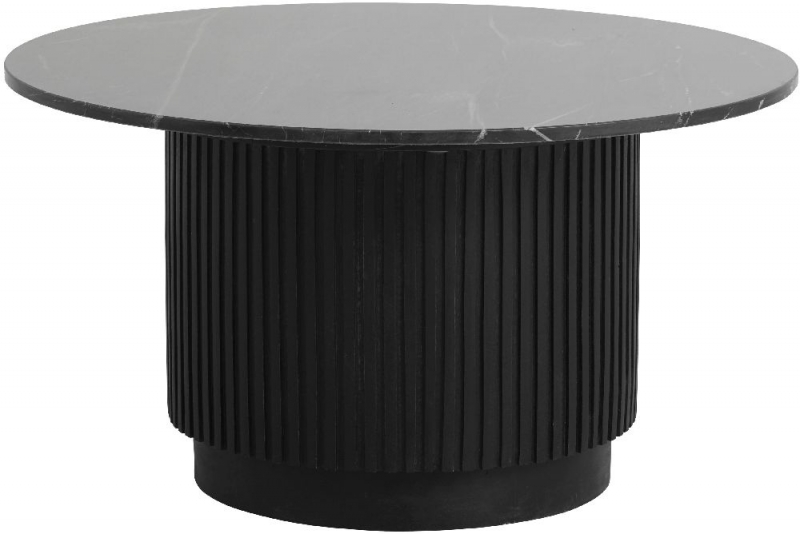 NORDAL Erie Black Marble Small Round Coffee Table