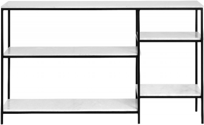 NORDAL Sky White Marble Console Table