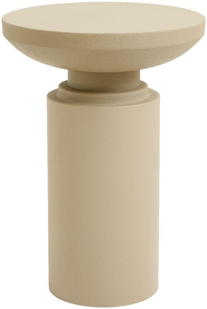 NORDAL Victoria Pillar Beige Side Table