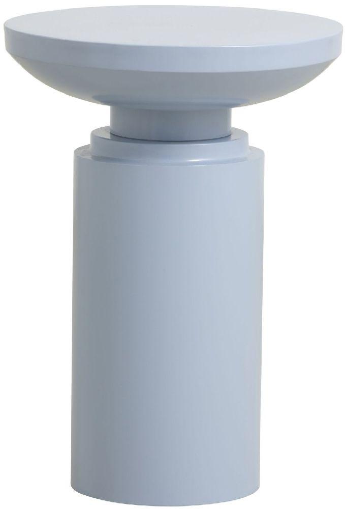 NORDAL Victoria Pillar Light Blue Side Table