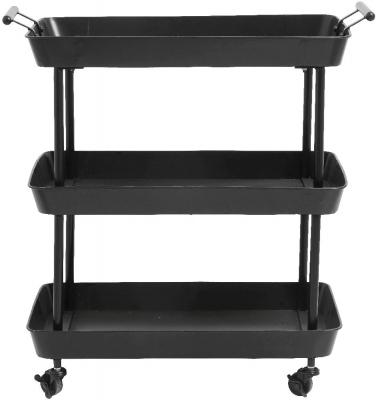 NORDAL Black Trolley Table