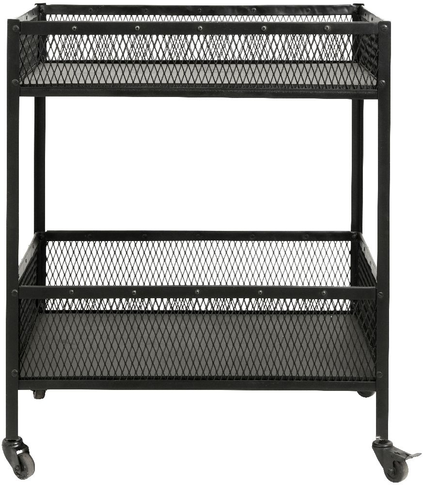 NORDAL Easy Black Large Trolley Table