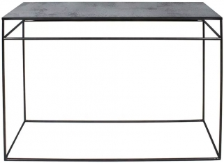 Notre Monde Charcoal Heavy Aged Mirror Rectangular Console Table