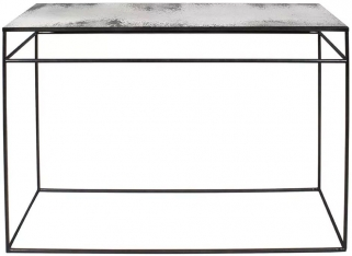 Notre Monde Clear Heavy Aged Mirror Rectangular Console Table