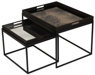 Notre Monde Rectanglular Tray Table Set