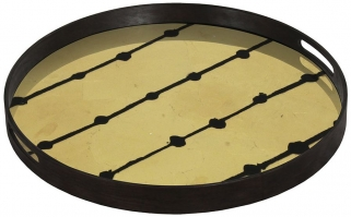 Notre Monde Brown Dots Small Round Glass Tray