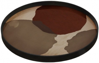 Notre Monde Overlapping Dots Large Round Glass Tray
