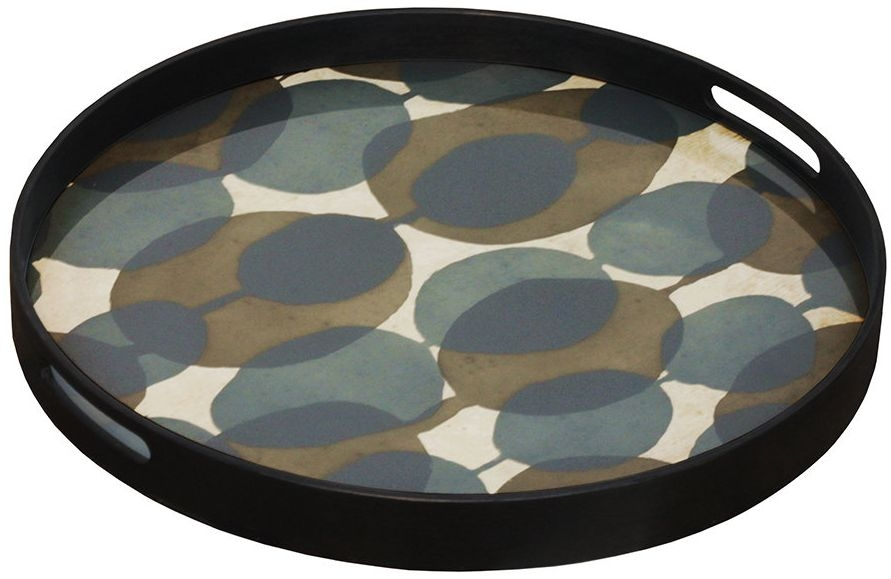 Notre Monde Connected Dots Small Round Glass Tray