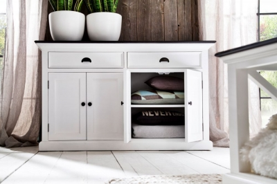 Nova Solo Halifax Contrast Buffet - White and Black