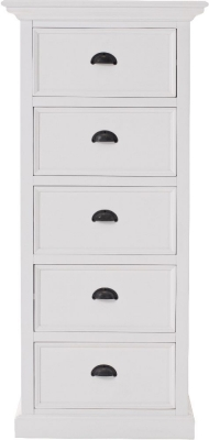 Nova Solo Halifax Grand White 5 Drawer Storage Unit