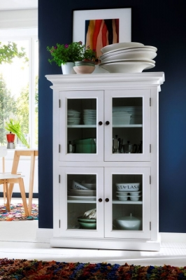 Nova Solo Halifax White 2 Level Pantry