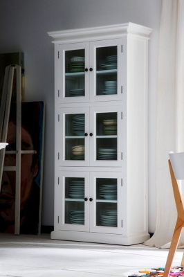 Nova Solo Halifax White 6 Door 3 Level Pantry